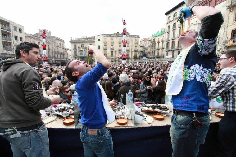Festa de la calçotada a Valls
