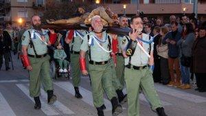 Els legionaris de la Setmana Santa de l'Hospitalet es manifestaran durant la vigília de Sant Jordi a Barcelona.