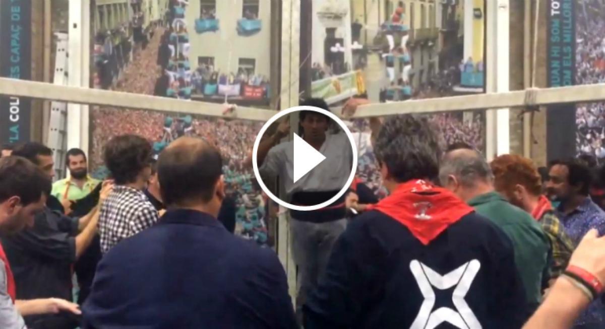 Els castellers de vilafranca anuncien el 3de10 amb folre i - El tiempo en l arboc ...