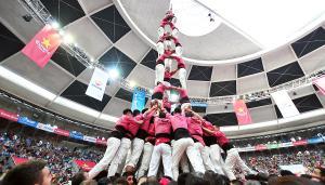 3 de 9 amb folre dels Xiquets de Hangzhou.