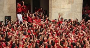 La Colla Joves Xiquets de Valls, fa un any, per Santa Úrsula.
