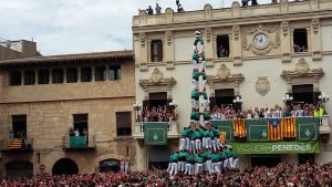 3 de 10 amb folre i manilles descarregat dels Castellers de Vilafranca.