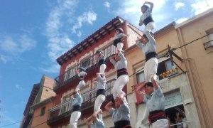 Pilars de comiat dels Nois de la Torre per Santa Rosalia.