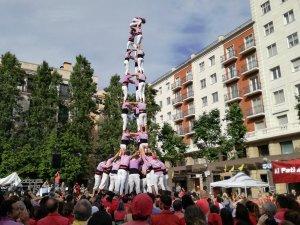 3de9 amb folre de la Colla Jove Xiquets de Tarragona a la diada del Pati