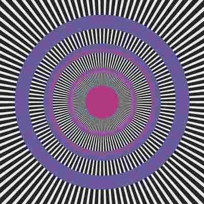 Efecto visual extraño con el círculo morado.