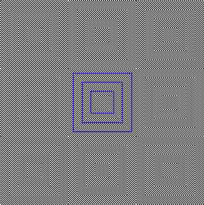 Las líneas del cuadrado no parecen rectas.