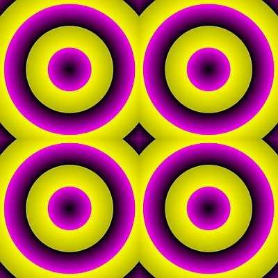 En realidad, son círculos concéntricos.