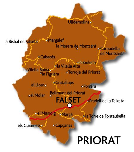 Mapa del Priorat
