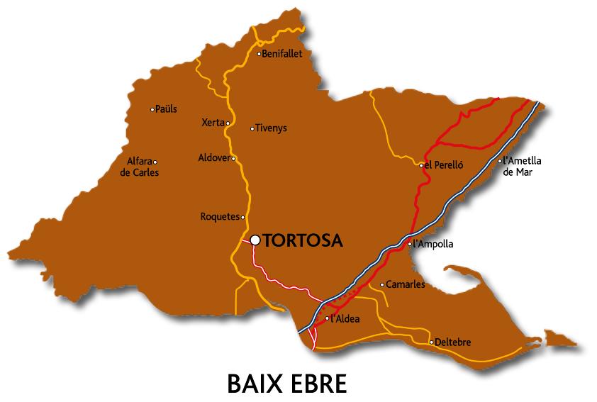 Mapa del Baix Ebre