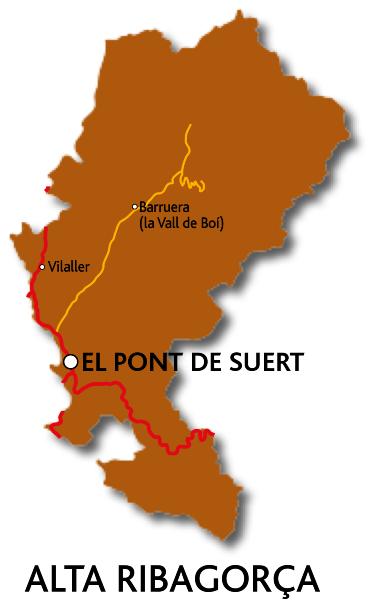 Mapa de l'Alta Ribagorça