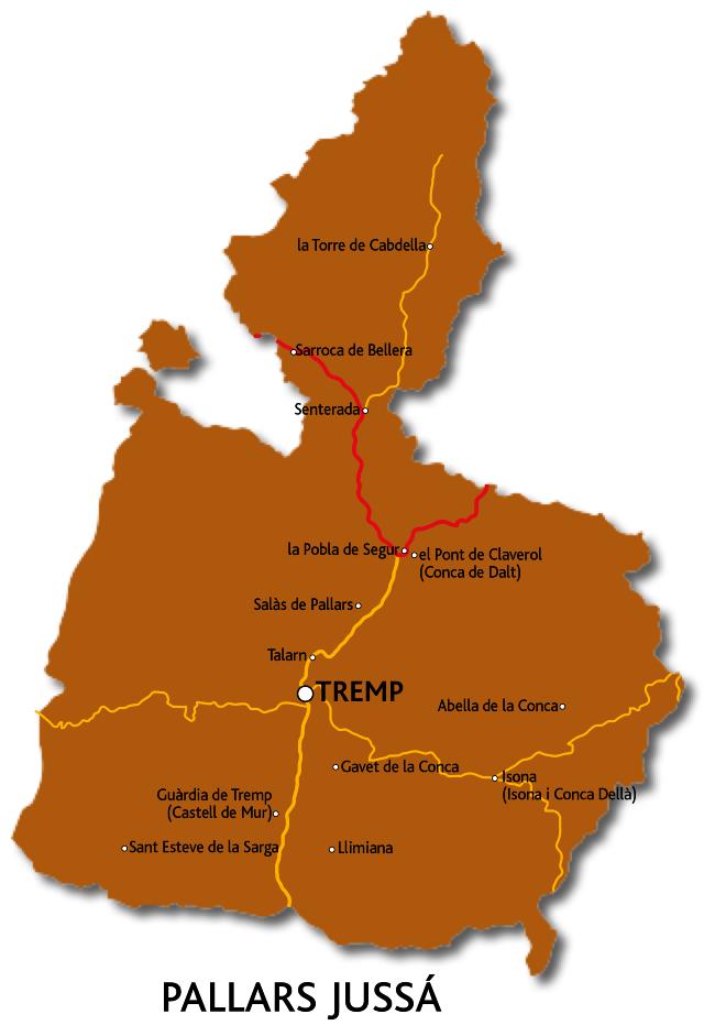 Mapa del Pallars Jussà