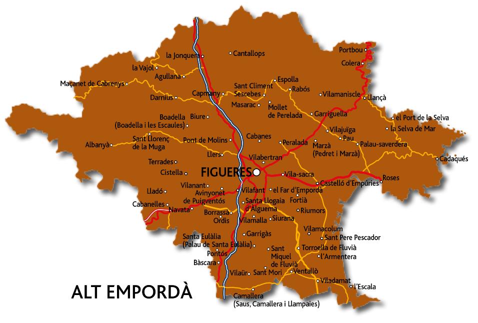 Mapa de l'Alt Empordà