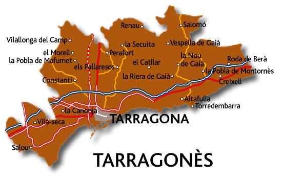 Mapa del Tarragonès