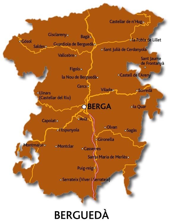 Mapa del Berguedà