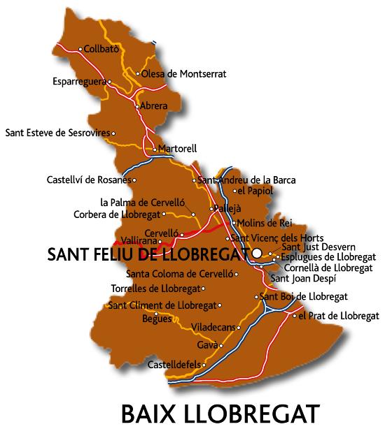 Mapa del Baix Llobregat