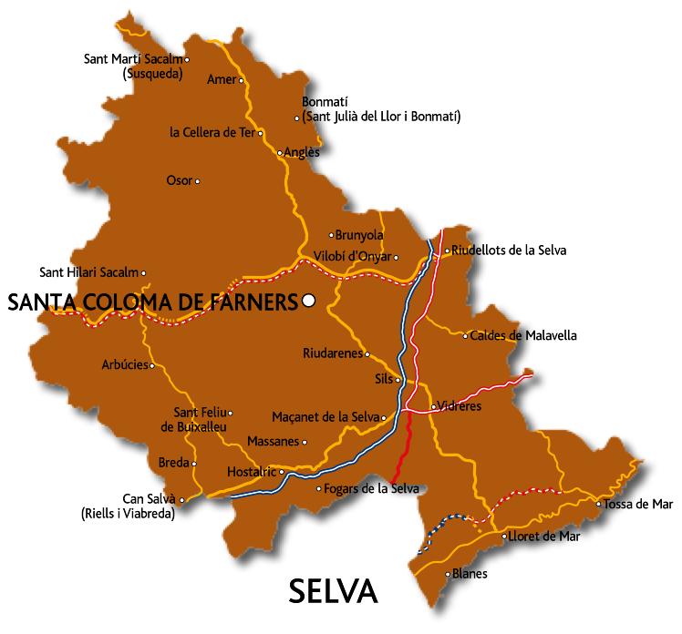 Mapa de la Selva