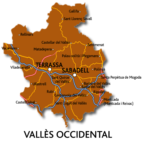 Mapa del Vallès Occidental