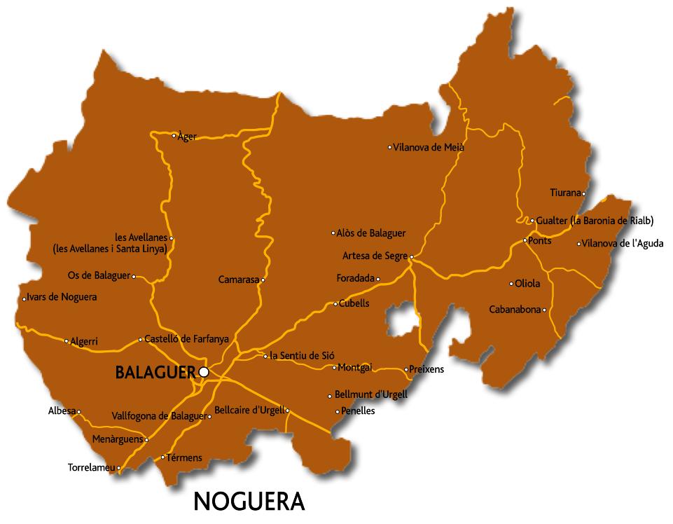 Mapa de la Noguera