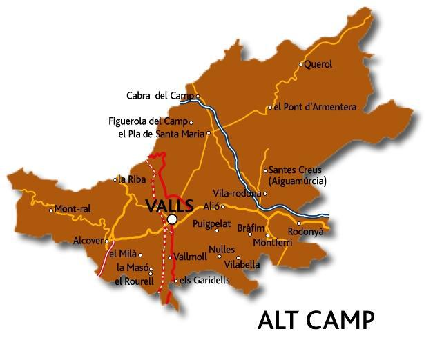 Mapa de l'Alt Camp