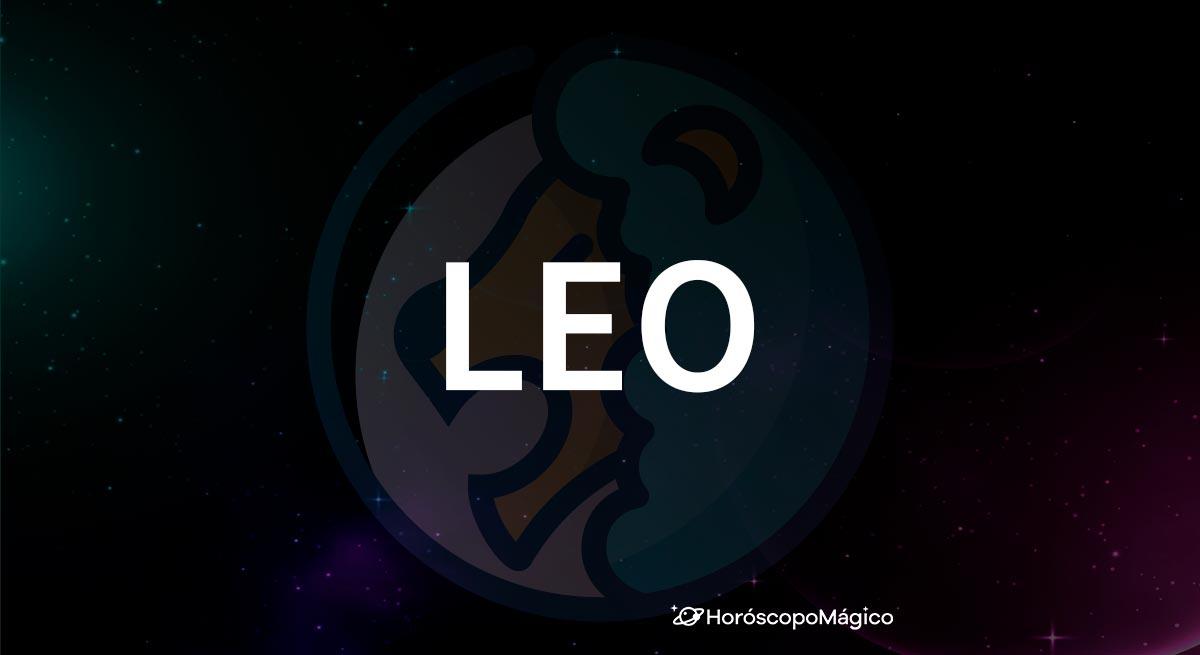Símbolo y nombre del signo del zodiaco Leo
