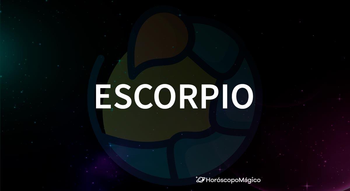 Símbolo y nombre del signo del zodiaco Escorpio