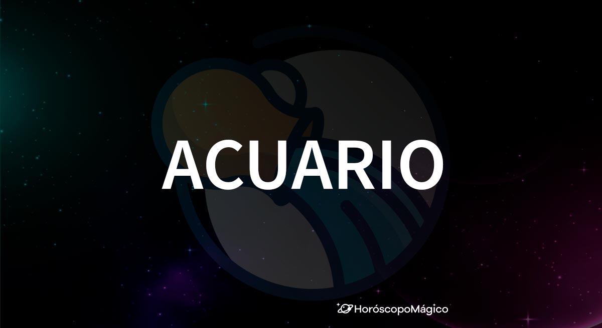 Símbolo y nombre del signo del zodiaco Acuario
