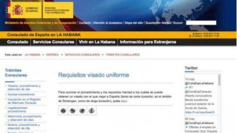 la web del ministerio de exteriores enlaza por error a una