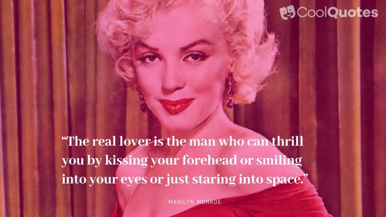 Marilyn Monroe Quotes About Love
