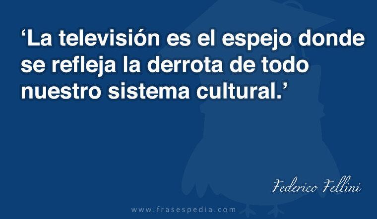 La televisión es el espejo donde se refleja la derrota de todo nuestro sistema cultural.