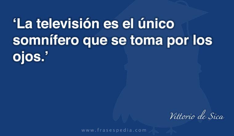 La televisión es el único somnífero que se toma por los ojos.