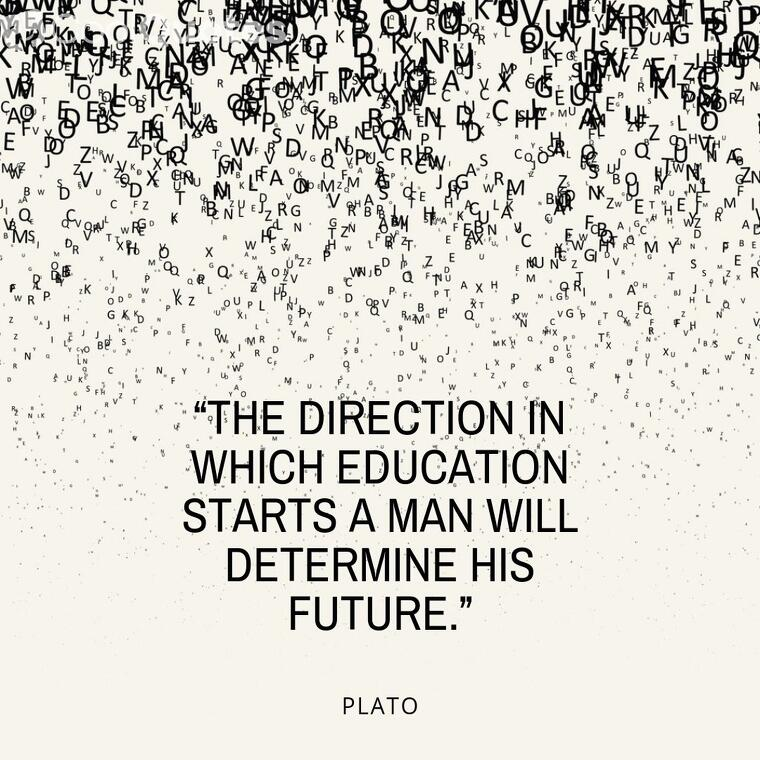 "Inspirational graduation picture quotes - ""The direction in which education starts a man will determine his future."""