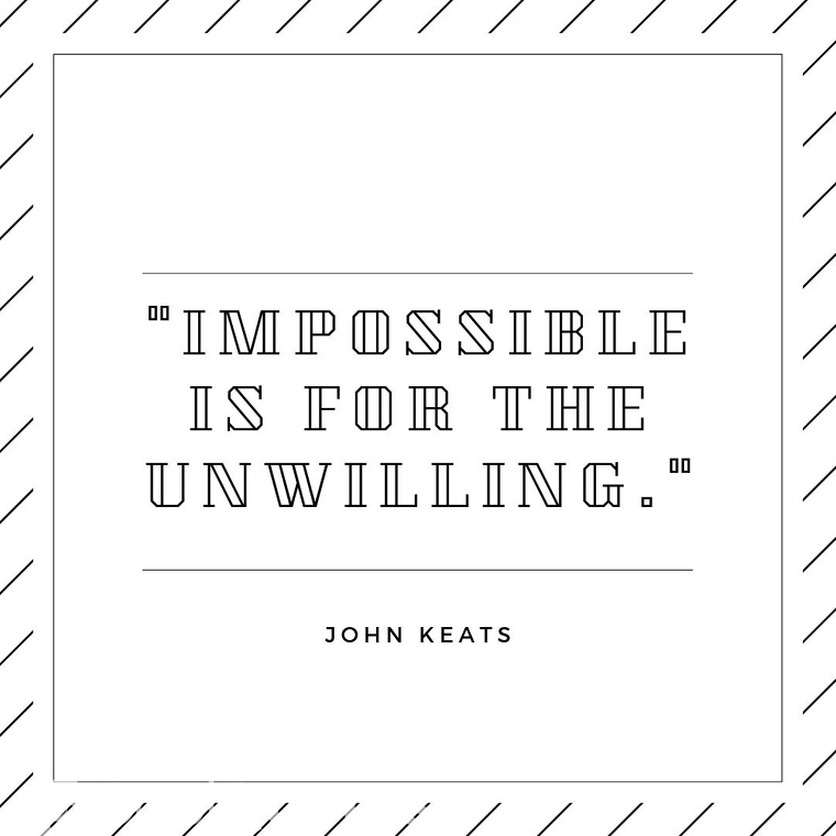 """Short Motivational Quotes Images - """"Impossible is for the unwilling."""""""