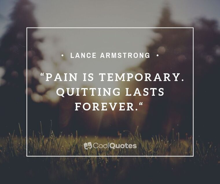"""Short Motivational Quotes Images - """"Pain is temporary. Quitting lasts forever."""""""