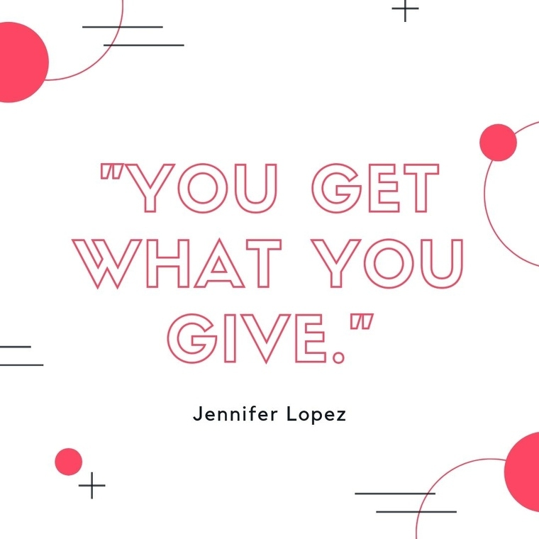 """Short Motivational Quotes Images - """"You get what you give."""""""