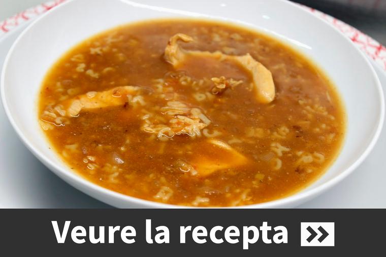 La tradicional sopa de caldo